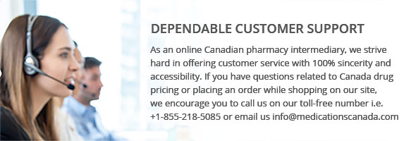 Internet pharmacy's customer service representative on a call